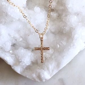 Jewelry - Gold Filled Petite Cross Necklace